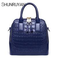 SHUNRUYAN Fashion Women Genuine Leather Bag Large Capacity Tote Bag Shoulder Bag Bolsa Feminina Bolsos Mujer
