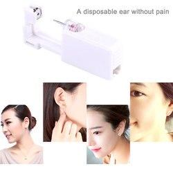 Deldi kulak alet Çelik Kulak Burun Göbek Piercing Vücut Aracı Kiti Enstrüman Çıtçıt Seti Takı Araçları