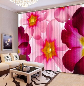 Custom Beautiful Blackout Curtains 3D Photo Curtains Living Room Curtain Drapes red rose petal Hotel Office Cafe Window Drape