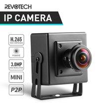 H.265 فيش HD 3MP كاميرا IP نوع صغير 1296 P/1080 P الأمن الداخلي المعادن ONVIF P2P IP CCTV كام نظام مراقبة بالفيديو