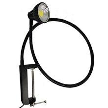 110V/220V 10W Big Clamp Led Gooseneck Desk Lamp