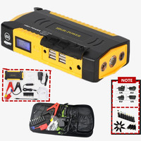 Mini Portable Car Jump Starter Multi Function Diesel Power Bank Bateria Battery 12V 68800mAh Peak Car