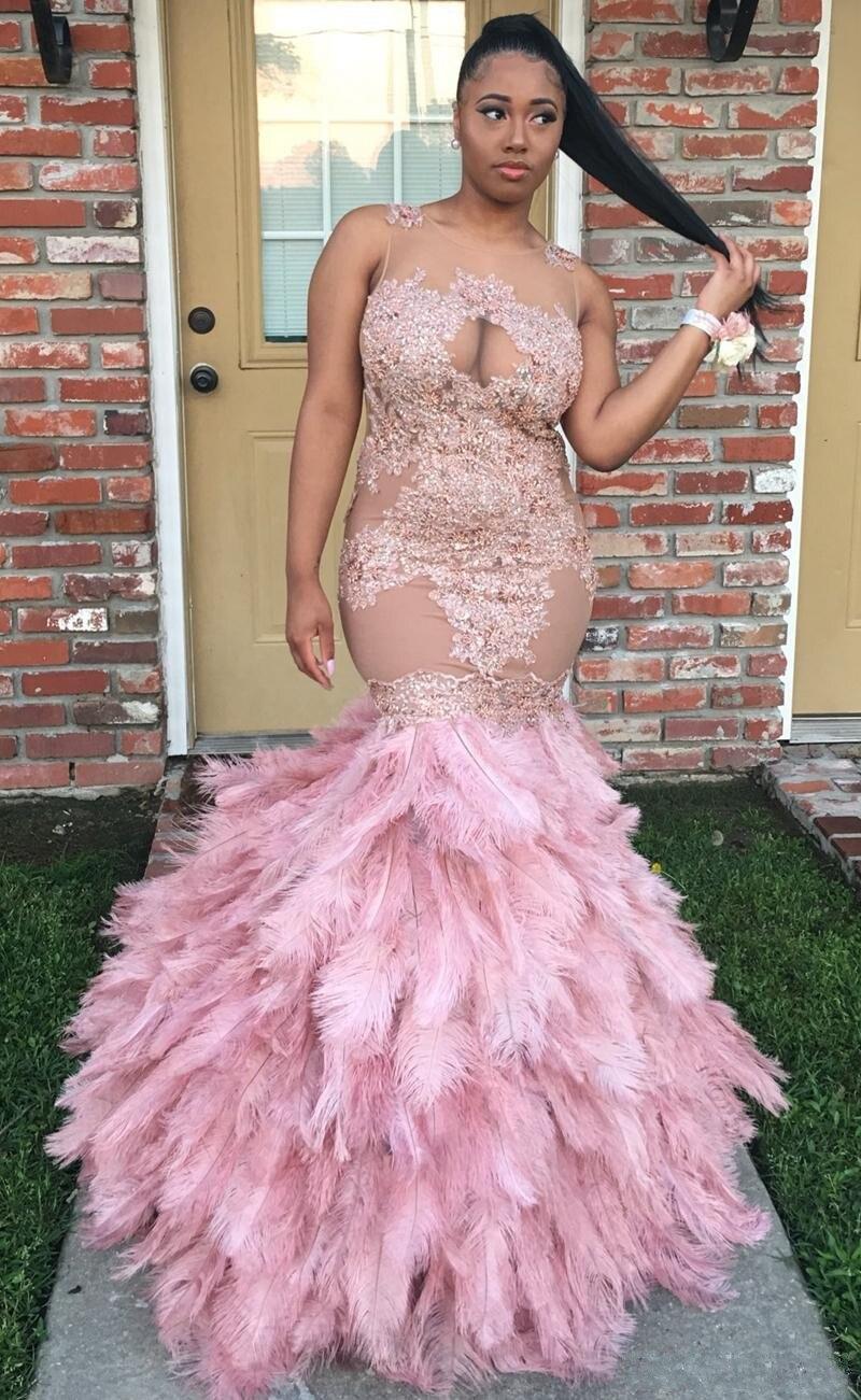 Robe De Soiree Sexy Long Prom Dress 2017 Beaded Pink Prom Dresses ...
