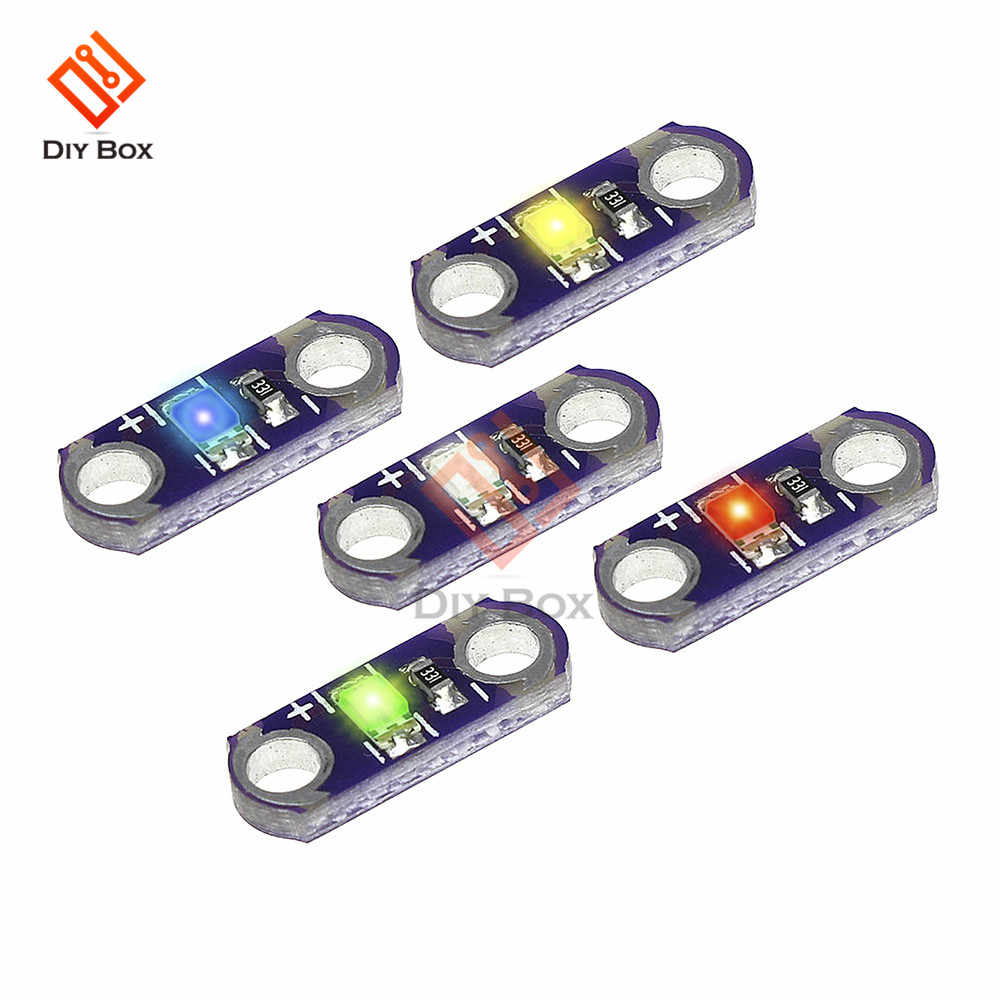 5pcs/lot LilyPad Led KIT DIY 3-5V 40MA SMD LED Equipment Light Green/Red/Blue/White/Yellow for arduino Module