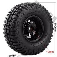 """INJORA 4Pcs Plastic 1.9"""" Wheel Rim Tires Set for 1/10 RC Crawler Car Axial SCX10 90046 Tamiya CC01 D90 D110 5"""
