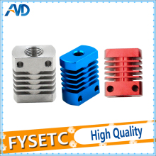 Red/Blue/Sliver MK10  V6 Heat Sink Radiator Fit 22mm Cooling Fan Aluminum Fins With Size 27x22x12mm Hot For CR8/CR10