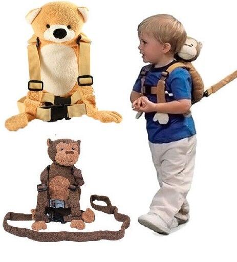 Baby Kid Keeper Safety Harness Toddler Walking Safety Harness Anti-lost Backpack Leash Bag Strap Rein Bat cartoon Bag