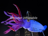 New designed attractive led lighting inflatable jellyfish balloon with various colors for wedding decoration