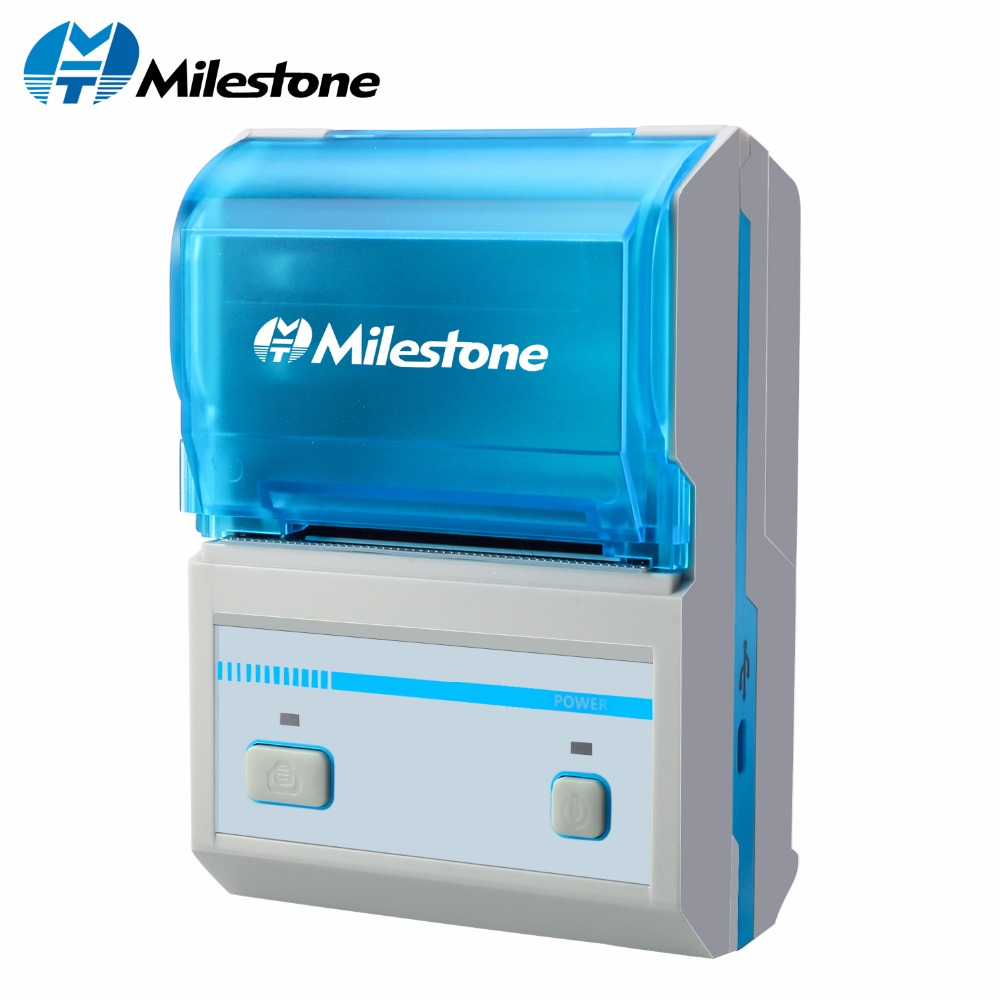 Milestone thermal barcode printer printing sticker mht l5801 support android ios mini wireless bluetooth printer label maker