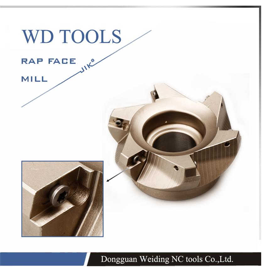 free shipping RAP300R-63-22-4T 75 Degree Positive Face Mill Head CNC Milling Cutter,milling cutter tools,carbide Insert APMT1135 free shiping emr 6r 63 22 4t face milling cutter head for rpmt w1204