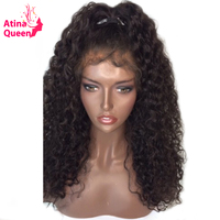 Atina Queen Hair Products Glueless Full Lace Wigs For Black Women Water Wave Remy Human Hair