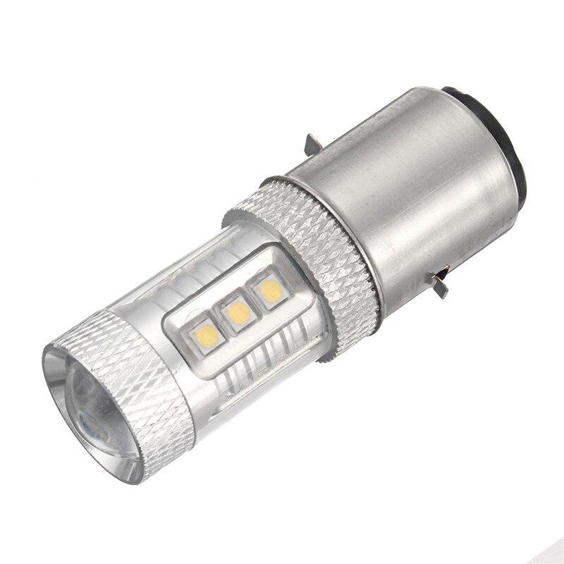 H6 Motorcycle Headlight LED Super Bright Lamp Bulbs BA20D 16LED MotorBike Moped ATV Headlamp Light Bulb