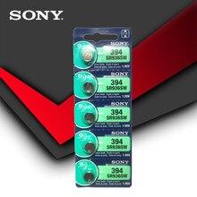 5pcs Sony 100% Original 394 SR936SW 936A LR45 L936 AG9 1.55V Óxido De Prata Botão Célula Tipo Moeda Bateria MADE IN JAPAN
