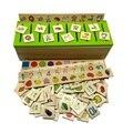 1 Conjunto Novo estilo Caixa de Classificação de Materiais Montessori Montessori Conhecimento Aprender-damas Caixa de Brinquedos de Madeira para Crianças