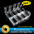4 Folio Foldable 240 jewelry Box Storage Holder Earrings Organizer Boxes Ring Display Stand Clear Acrylic Rack EQC376