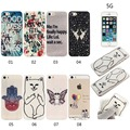 Colorful Printed Clear Soft Silicone balloon Butterfly deer Cartoon Cat Tpu Cover For Apple iphone 5 5s Se 6 6s 6Plus 6sPlus