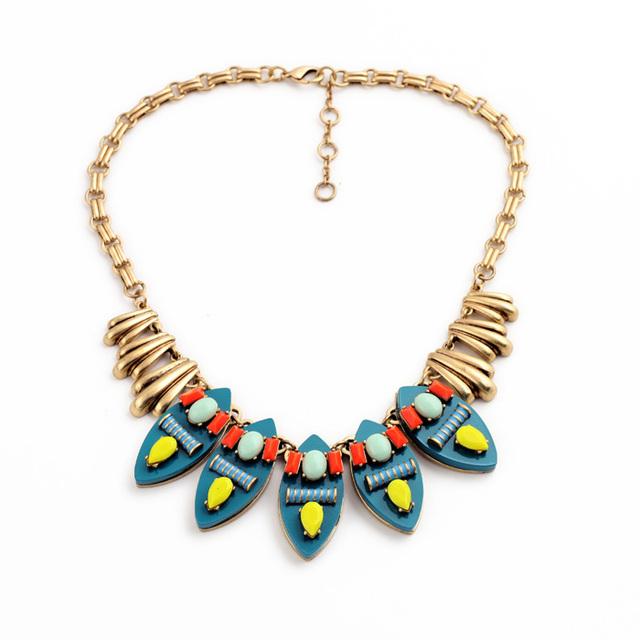 Las mujeres de Moda Boho Accesorios Famosa Marca Diseñador de La Joyería Collar de Estilo Étnico 2015