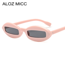 ALOZ MICC 2018 Sexy Small Oval Sunglasses Women Men Unique Square Lens Fashion Sun Glasses Brand Design Female Shades UV400 Q473