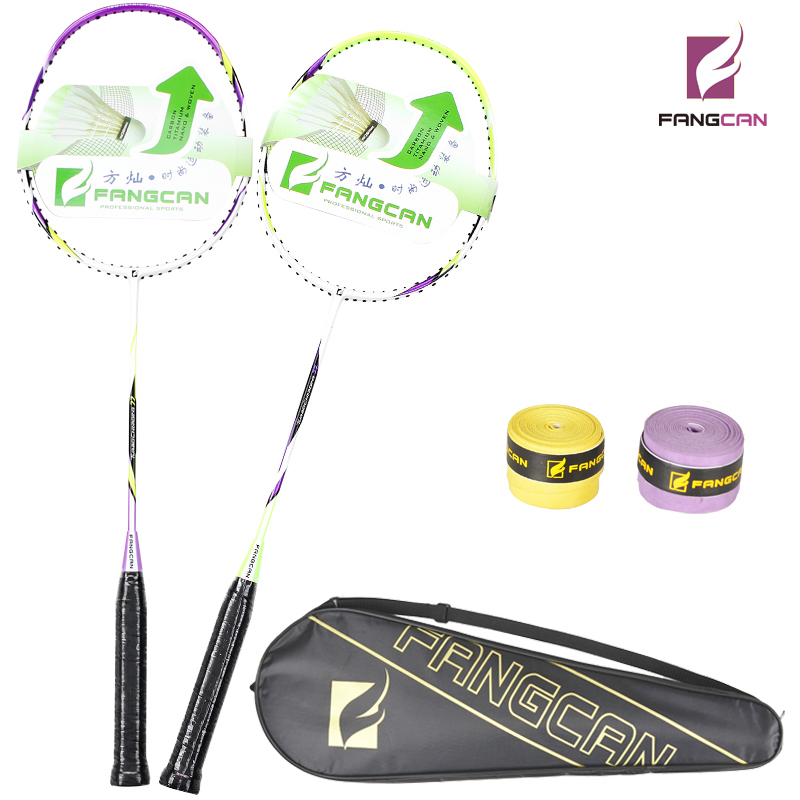 ФОТО 2pcs/lot FANGCAN TURBO CHARGING 77 Composite Badminton Rackets Couple Shoot With Strings and Cover two colors