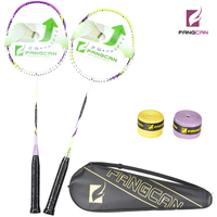 2pcs/lot FANGCAN TURBO CHARGING 77 Composite Badminton Rackets Couple Shoot With Strings and Cover two colors