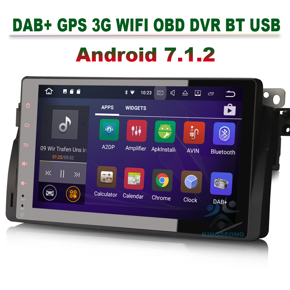 Dvd-плеер Android 7.1.2 Авто Радио для BMW E46 3er M3 3G автомобиля Радио DVR GPS navitaion OBD WI-FI зеркало Ссылка dab + Bluetooth