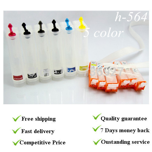 ФОТО 5 colors Empty,with chip CISS suit for HP564, suit for HPD5460 D5463 D5468 C5324 C5370 C5373 C5380 C5383 C5388 C5390,