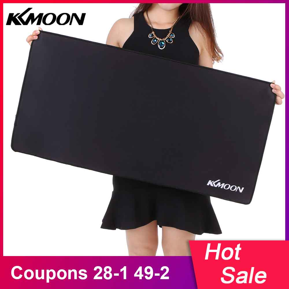 KKMOON Large Size Mousepad Gaming Mouse Pad Plain Extended Waterproof Anti-slip Natural Rubber Desk Mat For LOL  Dota 2