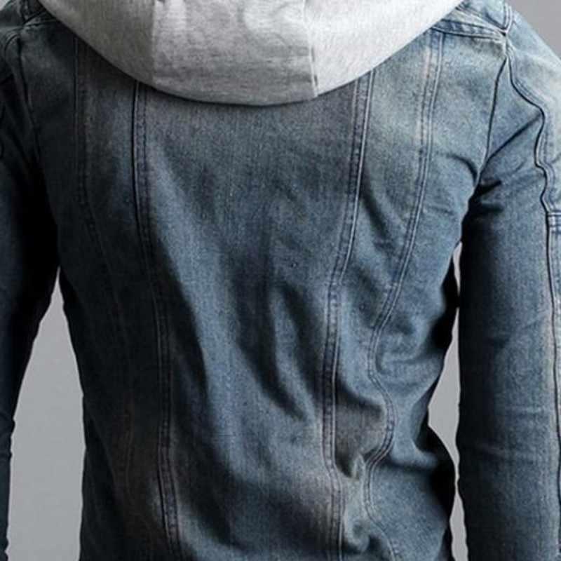 Manteau Homme 2019 Модные мужские джинсовые куртки куртка на молнии мужская куртка Aqueta Motoqueiro Harajuku джинсовая мужская куртка плюс размер