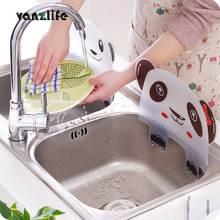 Vanzlife Милая панда, раковина, защита от брызг воды, бассейн, перегородка, кухонный гаджет, пластина с присосками, удерживающая воду пластина