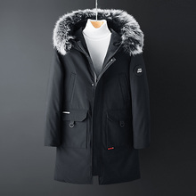 Fashion Winter White Duck Down Jacket Men New Casual Thicken Warm Fur Collar Men Coats Long Parkas Hooded Overcoats Men Clothing цены онлайн
