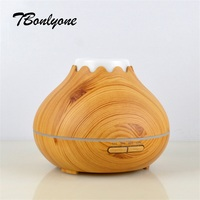 TBonlyone 400ML Ultrasonic Air Aroma Humidifier With NightLight Wood Grain Aromatherapy Electric Essential Oil Aroma Diffuser
