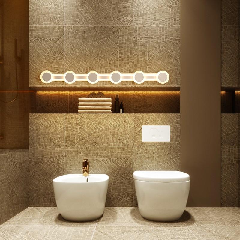 Modern LED Mirror Light 9-28W 40-120cm Waterproof Wall Lamp Fixture AC220V 110V Acrylic Wall Mounted Bathroom Lighting BD70