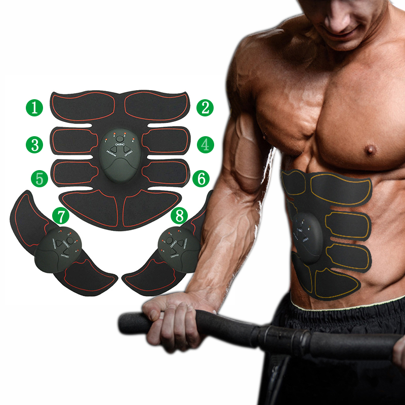 Cuerpo que adelgaza la talladora máquina decenas Electronic Abdominal Fitness accesorios Smart EMS entrenador muscular estimulador inalámbrico masajeador