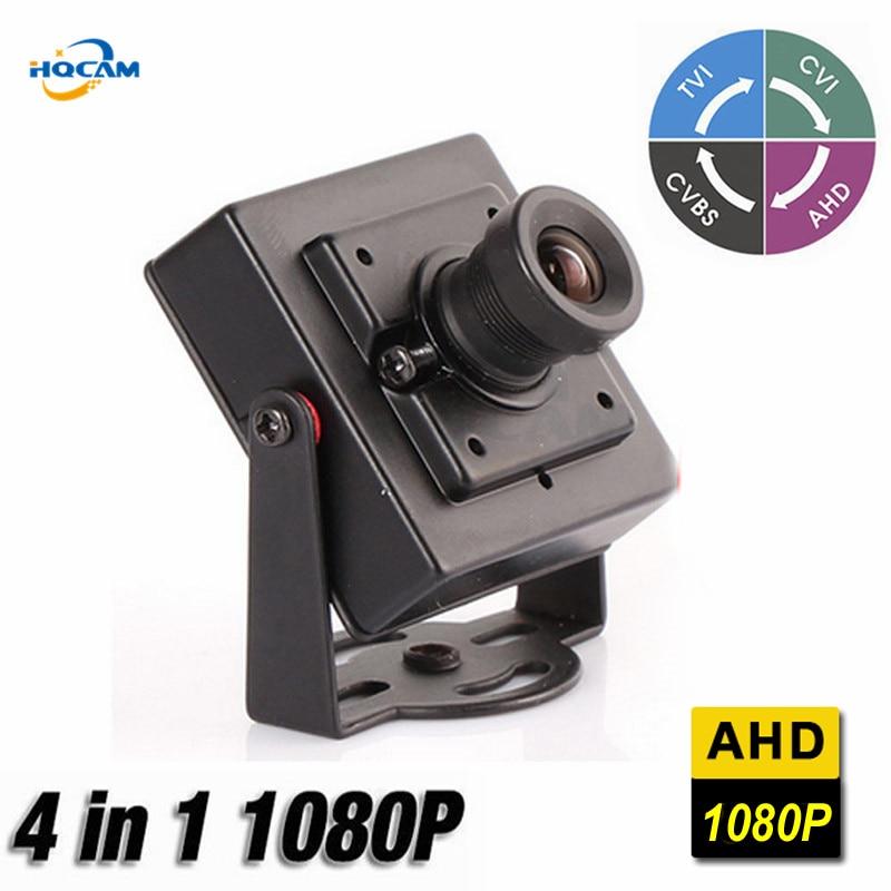 HQCAM Mini AHD Camera 2MP 1080P 4 IN 1 AHD/CVI/TVI/CVBS Camera Indoor CCTV Security OSD DIP switch NVP2441+IMX323 Size 34*34mm цены
