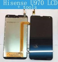 100% probado Hisense EG970/U970 T970 Pantalla LCD con la pantalla táctil del digitizador assembly + Herramientas Envío Libre
