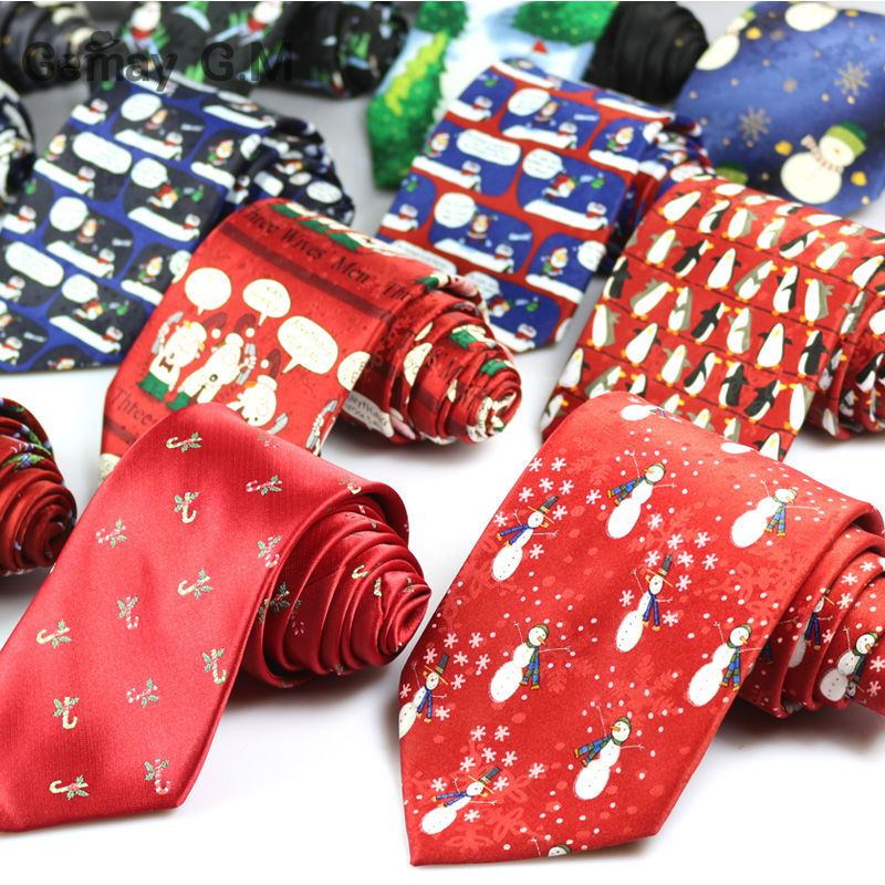 New Microfiber Silk Mens Neckties Fashion Classic Character Print Ties for Man Merry Christmas Neck Tie For Gift Party Tie