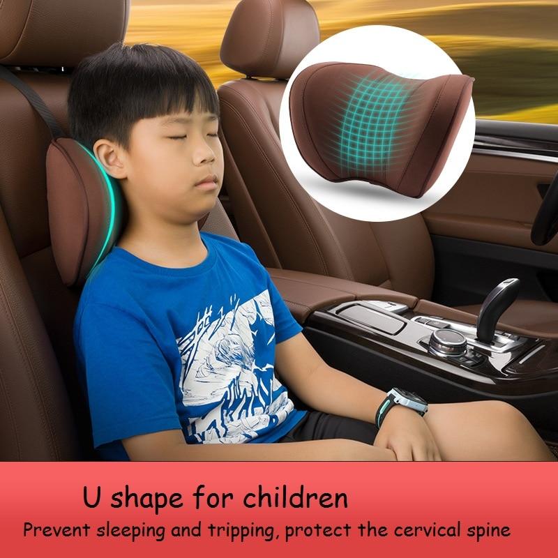 Neck Pillow For Children In The Car Sleeping Pillow Child Travel Pillow Memory Foam Car Headrest Pillow Safe Auto Accessories