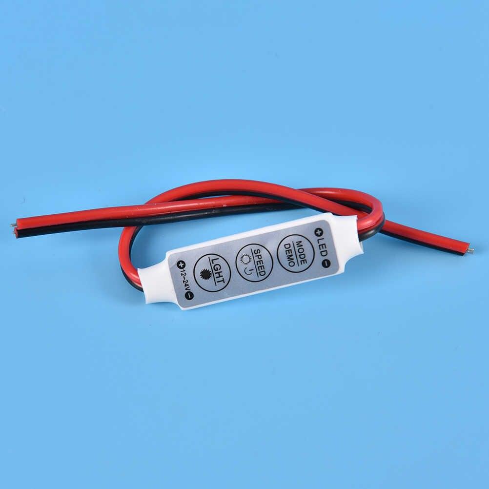 Mini brilho dimmer para led 3528 5050 luz de tira 3 teclas única cor rgb led controlador 12 v-24 v 1 pcs
