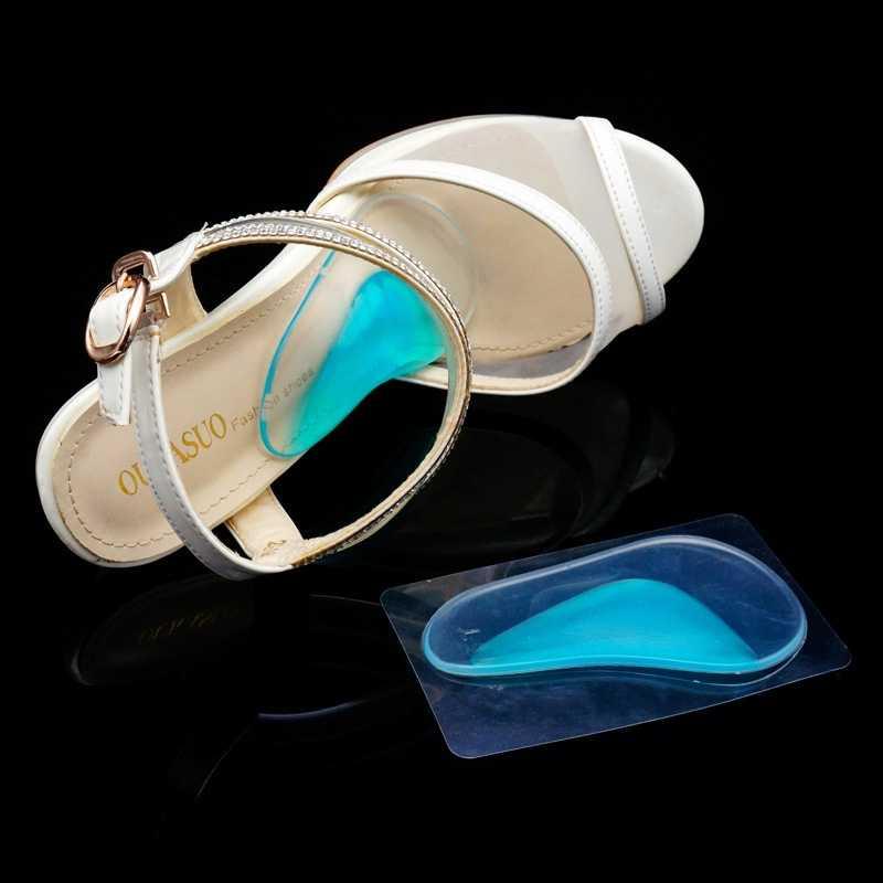 1 пара унисекс для мужчин и женщин высокое качество Pugel арки плоские ноги ортопедические боли поддержка обуви гель подушки колодки синий