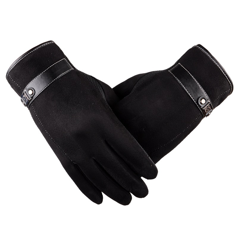 Luxury suede gloves mens