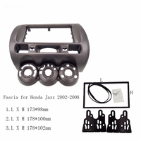 Car Fascia fit for Honda Jazz One 2 Din Radio DVD Stereo CD Panel Mount Installation Trim Kit Frame Bezel , Manual AC LHD/RHD