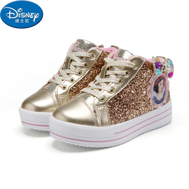 Disney Princess Girls Shoes Spring And Summer New Korean Tide Girls Shoes Non-slip Sports Running Shoes Casual Shoes