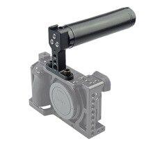 Top Punho de Couro com Top Base de Sapata Fria para Estabilizador de Câmera de Vídeo DSLR Camera Gaiola BLACKMAGIC Gaiola Acessórios-302