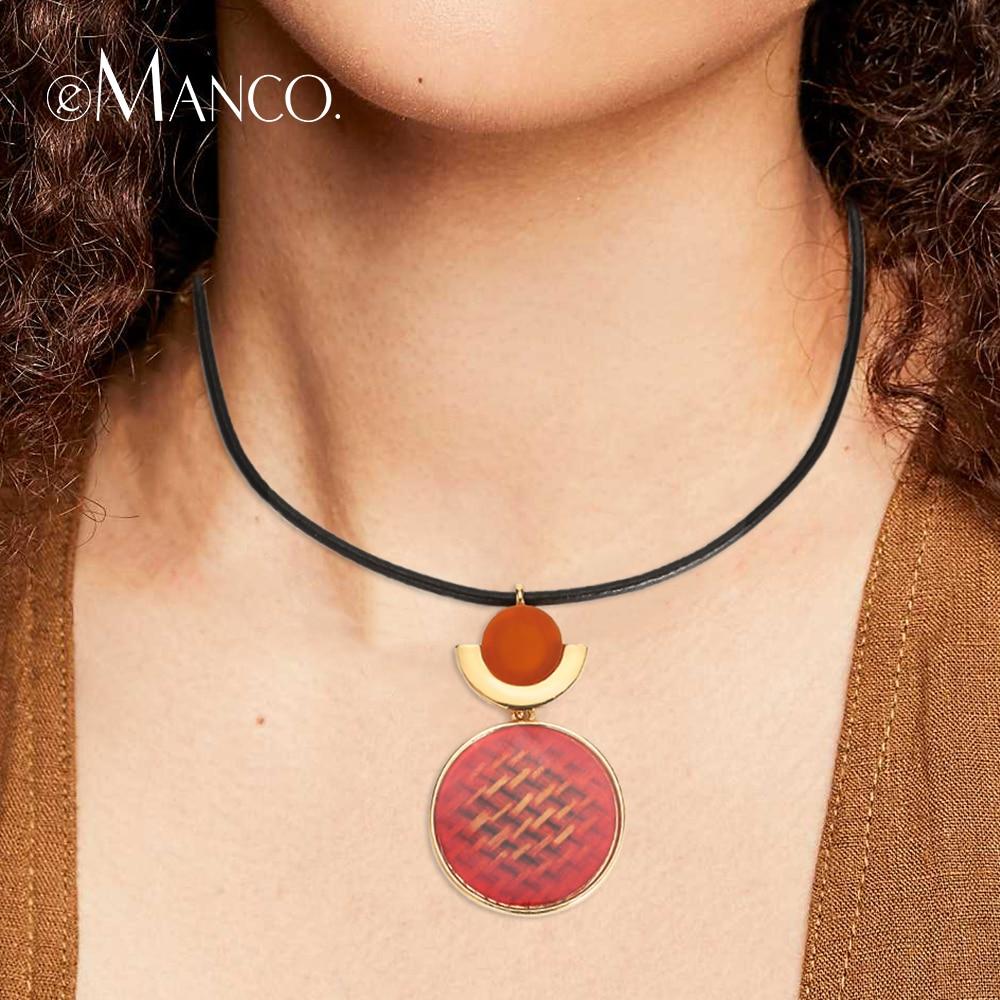 EManco элегантное колье ожерелье для женщин короткая цепочка Кулон Ожерелье очаровательные модные украшения Оптовая цена Femme подарки купить на AliExpress