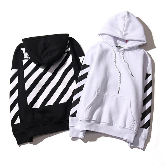Classic Black OFF WHITE Hoodies Mens Woman Warm Fleece Hooded Homme Pull Hip Pop Skateboard Long Sleeve Hoody Man Sweatshirts
