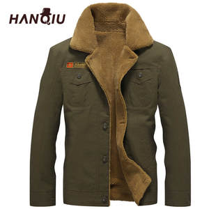 cbcdeafae96 HANQIU 2018 Winter Male Mens Army Tactical Jackets