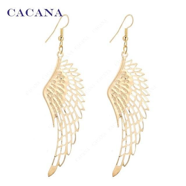CACANA Earrings Dangle Long Earrings With Top Quality Big Wing For Women Bijoute