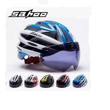 SAHOO Bicycle Helmet Women/Men Cycling Helmet Magnetic Goggles Ultralight Mtb Mountain Road Bike Helmet Casco Ciclismo