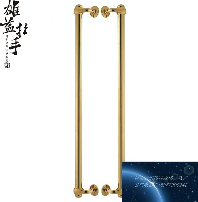 Bronze glass door handle modern European luxury stainless steel door handle / Chinese antique wooden door handles solid wood door glass door handle stainless steel bronze sculpture of chinese antique european style luxury door handles