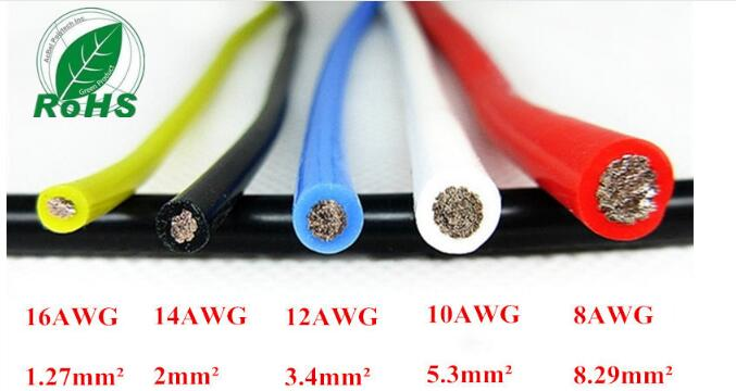12AWG Flexible Silicone Wire RC Cable 12AWG 680/0.08TS Outer Diameter 4.5mm 3.4mm Square Model airplane Wire 10awg flexible silicone wire rc cable 10awg 1050 0 08ts outer diameter 5 5mm 5 3mm square model airplane wire